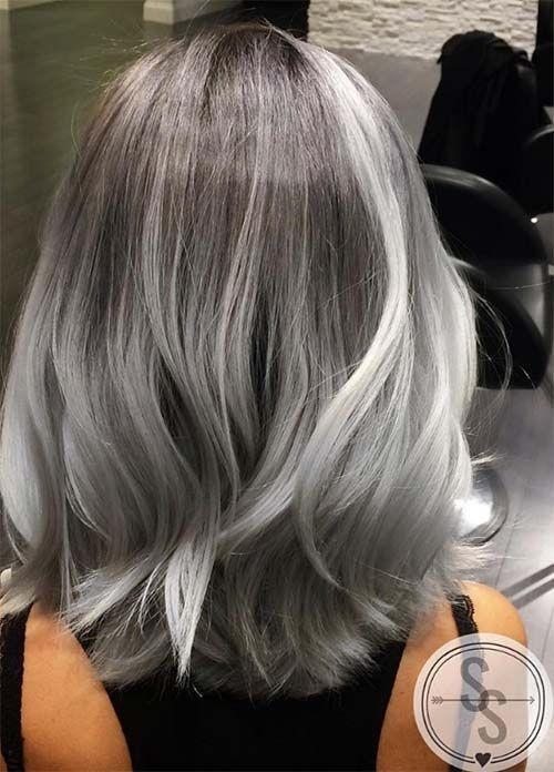 Gray bob hairstyle and haircut