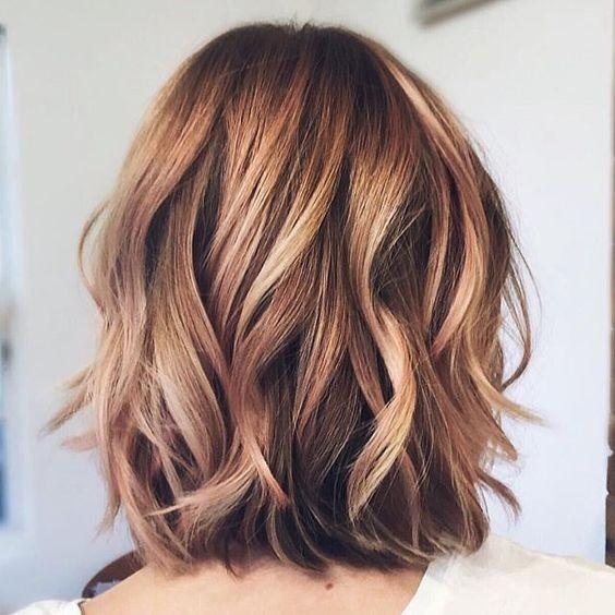 Layered Blonde and Brown hairstyle for thick hair