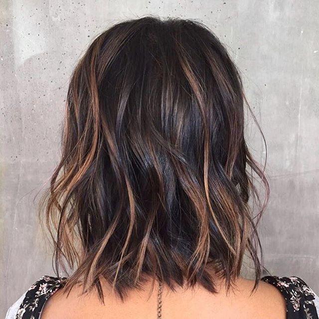 Medium hair with curls