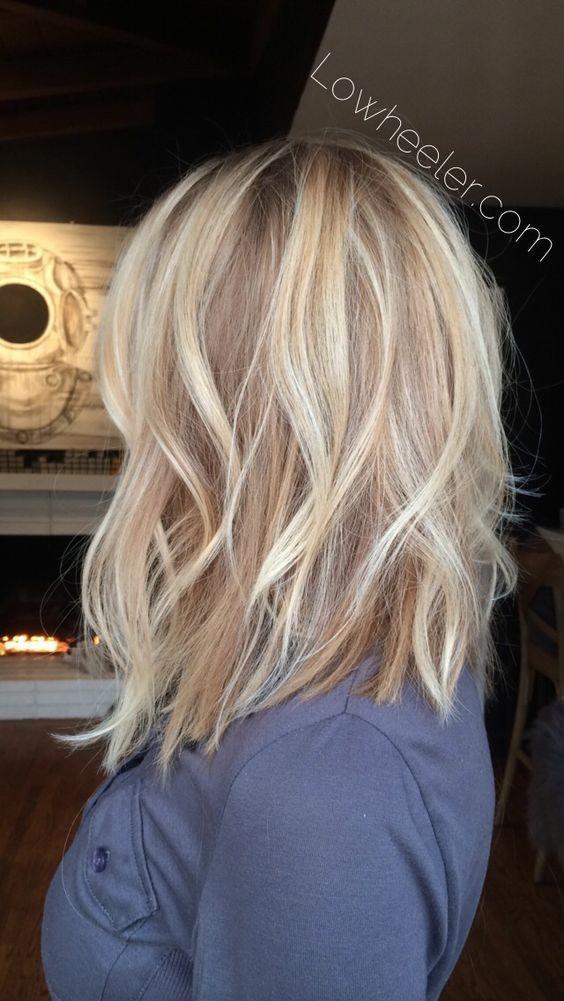 Twisted layered long bob hairstyle