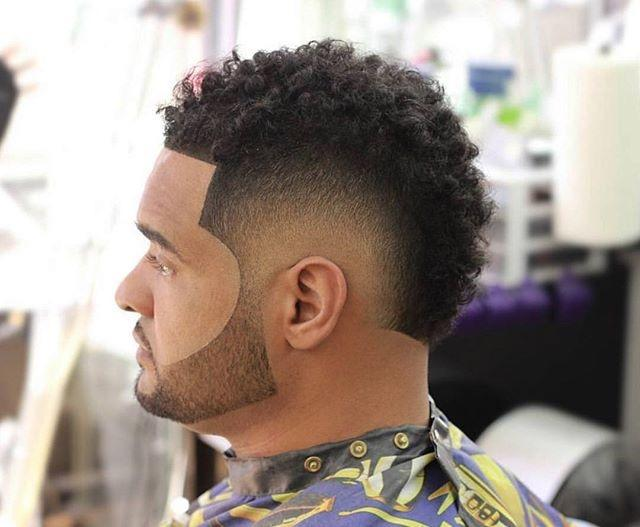 Burst Fade Men Hairstyles