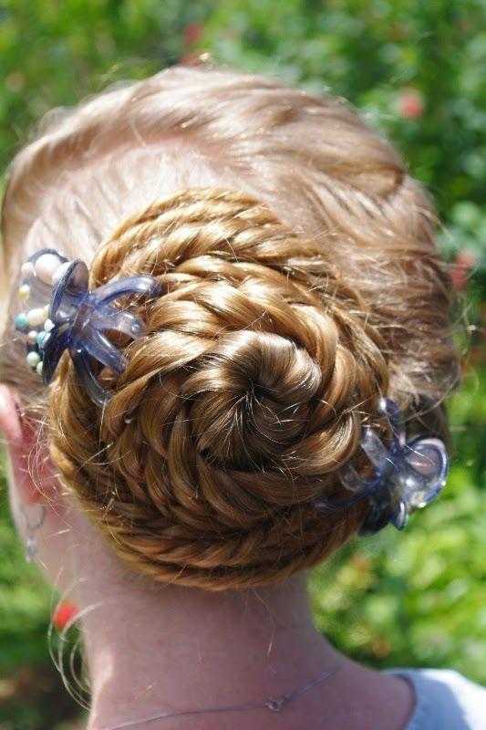 Conch Braid With Ribbons Girls Hairstyles