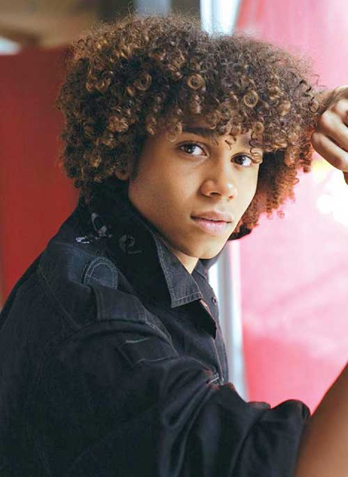 Curly Afro Men Hairstyles