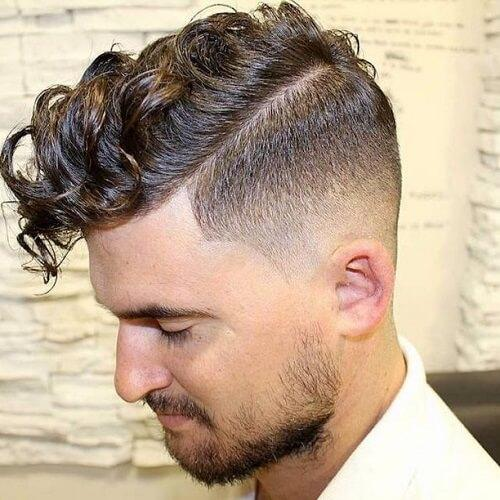 Curly Pompadour Men Hairstyles