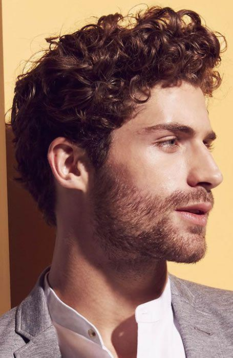 Curly Quiff Men Hairstyles