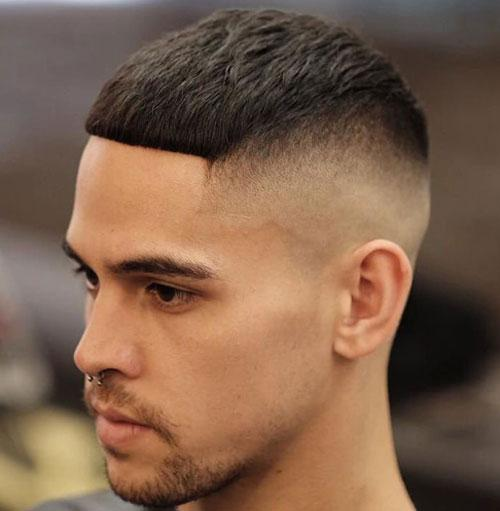 High Bald Fade with Cropped Fringe Men Hairstyles