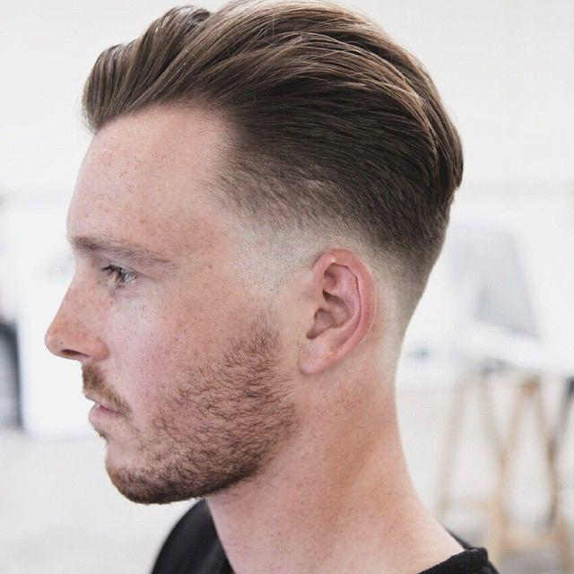 Low Fade with Long Fringe Men Hairstyles