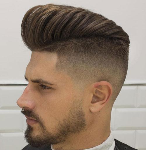 Pompadour Fade Men Hairstyles