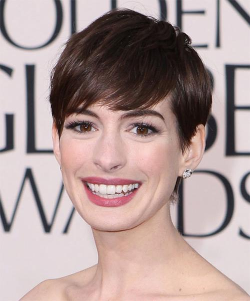 Short Straight Formal Pixie Hairstyles with Side Swept Bangs